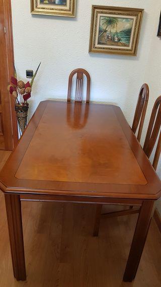 Mesa de salón y 6 sillas