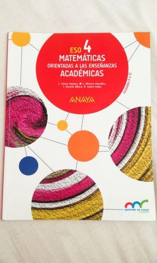Libro 4 ESO Matemáticas Académicas