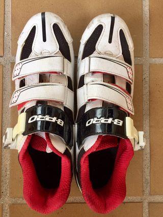 Zapatillas Ciclismo carretera B-PRO, calas LOOK. T