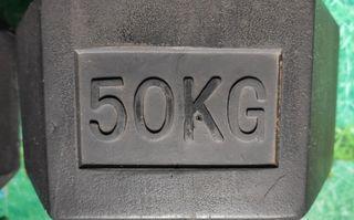 Mancuernas hexagonales 50 kg