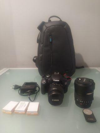 Canon EOS 600D + 2 objetivos + 3 baterías + bolsa