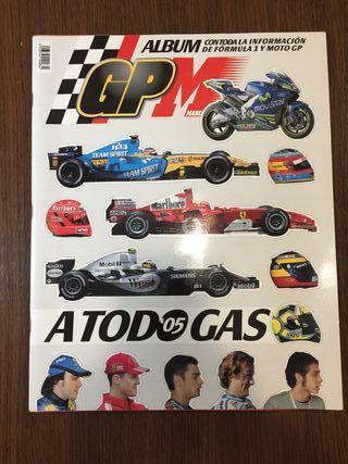 Álbum de cromos de Fórmula 1 y Moto GP
