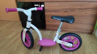 Bicicleta aprendizaje sin pedales rosa Smoby
