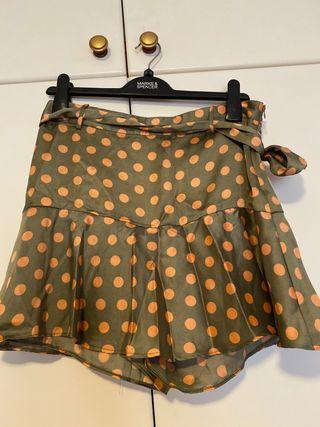 Falda pantalon lunares