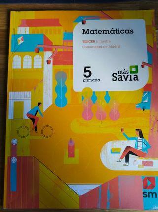 Matemáticas Tercer Trimestre 5 Primaria SM