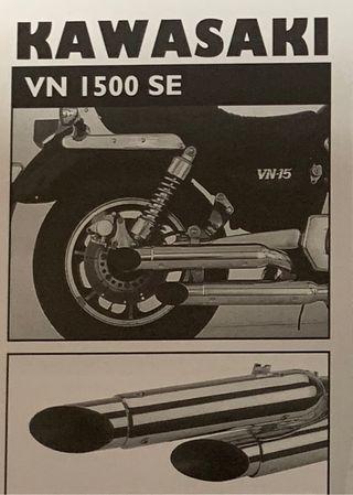 SILENCIOSOS CUSTOM KAWASAKI VN 1500 1987