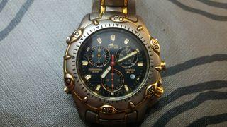 Reloj Lotus titanio y chapado en oro