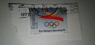 Sello de las Olimpiadas 92
