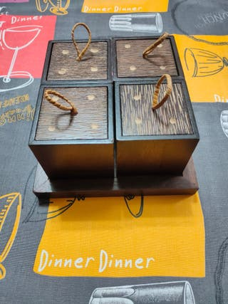 cubitos para guardar cosas de madera wenge