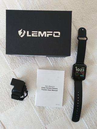 Reloj inteligente Lemfo negro