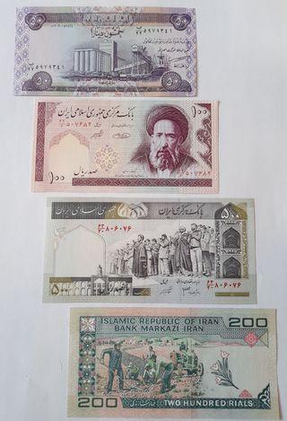 4 BILLETES IRAN, IRAQ