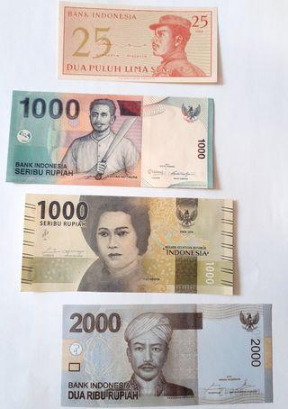 4 BILLETES DE INDONESIA