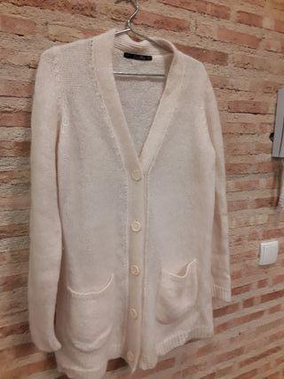 Chaqueta lana zara rosa