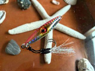 Jig Pink Silver Brillante Asimetrico 2 Assist Hook