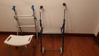 Andador y silla geriátrica