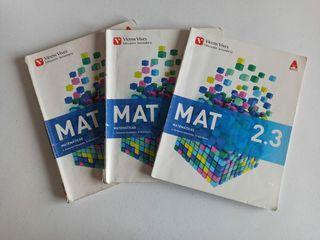 Libro matemáticas 2° ESO - Juego de 3 libros