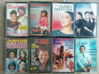 lote cassettes artistas clásicos