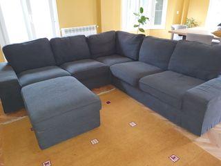 Sofa rinconera Ikea con modulo asiento.