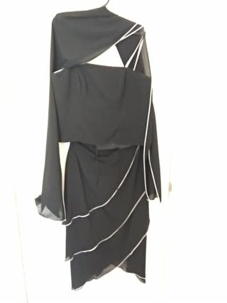 Conjunto falda, corpiño y echarpe fiesta t 44