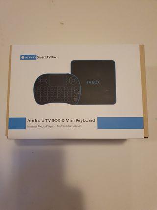 Android TV con teclado