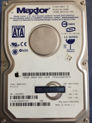 Disco duro 160 Mac