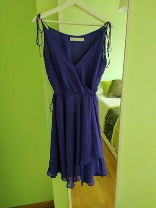 vestido fiesta morado Zara