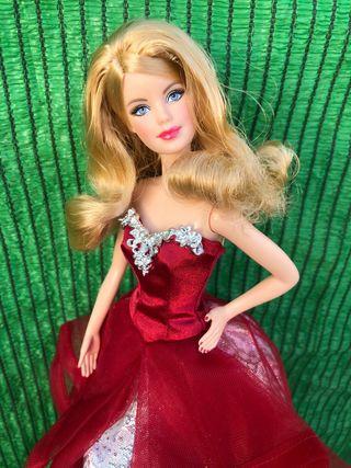 Muñeca barbie de colección navidad
