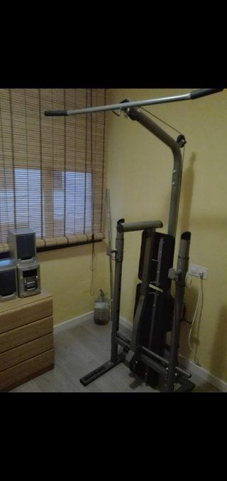 Maquina de pesas y accesorios