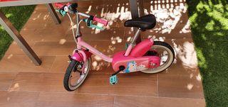 Bicicleta rosa niña unicornio 14 pulgadas