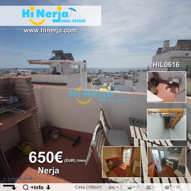 HIL0616 CASA DE PUEBLO 3 DORMITORIOS 2 TERRAZAS (Nerja, Málaga)