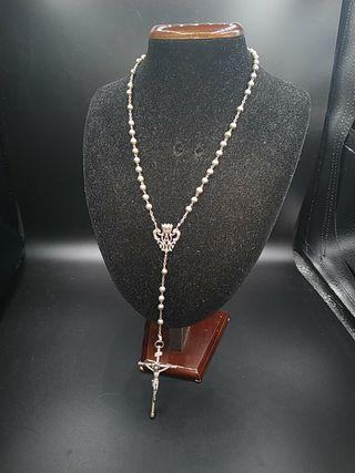 rosario antiguo de plata