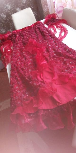 vestido de fiesta gitana piedreria