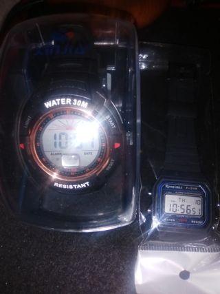 Lote 2 relojes digitales nuevos