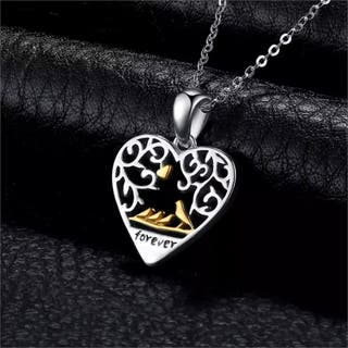 Family Silver Pendant Necklace Necklace 925S.S