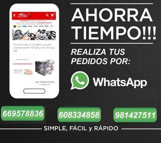 Recambios de coche por whatsapp