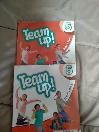libro inglés team Up. Pearson 5 primaria