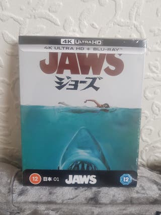 Jaws UK Exclusive 4K ULTRA HD Blu Ray STEELBOOK