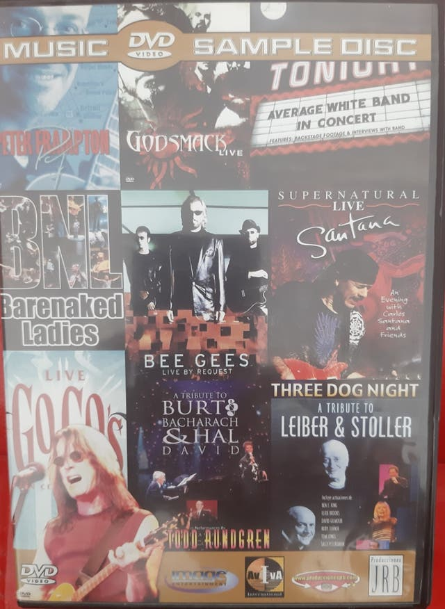 DVD Videos Musicales Bandas de Rock