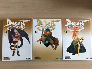 3 tomos del manga Desert Coral