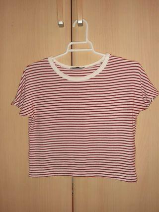 Top del Zara de rayas rojas y blancas,talla M