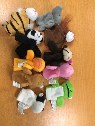 Marionetas dedos animales