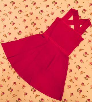 Vestido elástico de Zara