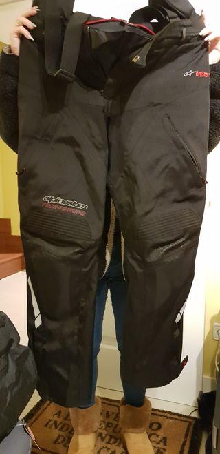 pantalones moto hombre negro M y forro