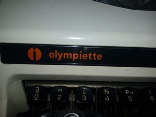 Maquina de escribir olimpietti de luxe