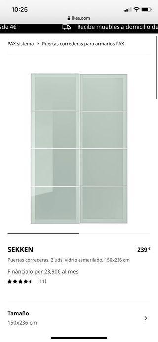 Armario puertas correderas IKEA (solo puertas)
