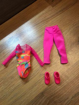 Conjunto barbie gimnasta años 80