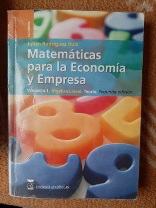 Matemáticas para la economía y emp. Álgebra lineal