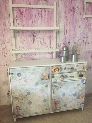 Mueble cocina, Repostero con platero