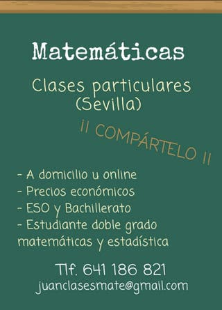 Clases particulares matemáticas Sevilla