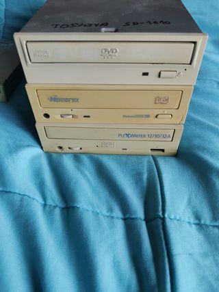 Lote: Dvd lector Ide + 2 grabadoras CD